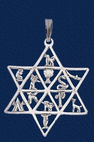 Symbols Of The 12 Tribes Sterling Silver Necklace Jewish Awareness