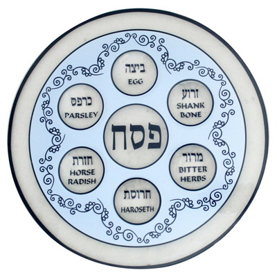 glass-seder-plate-blue-13-inches