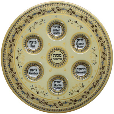 glass-seder-plate-brown-13-inches