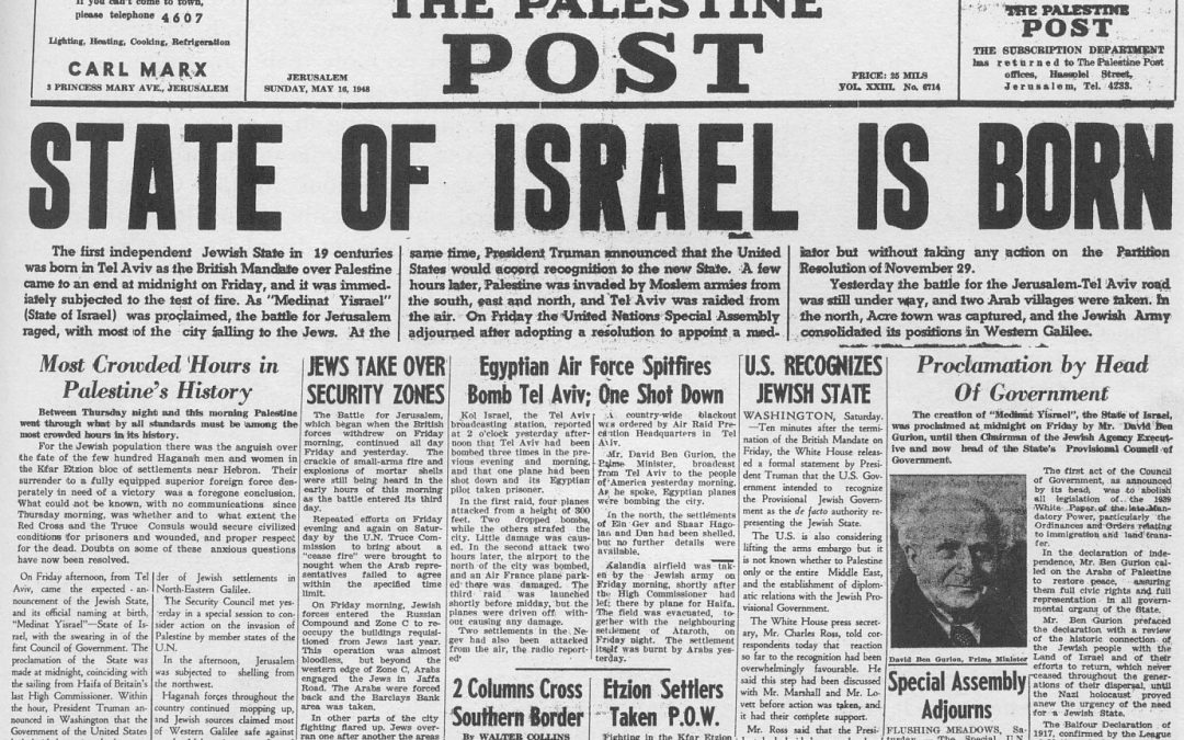 70 YEARS – ISRAEL AS A NATION  1947-2017